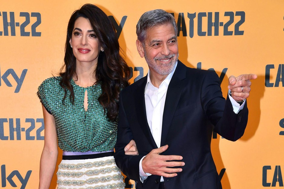 George Clooney in soproga Amal vedno znova poskrbita za govorice. (foto: Profimedia)