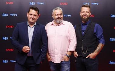 Luka Jezeršek, Karim Merdjadi in Bine Volčič, sodniška trojica MasterChef Slovenija