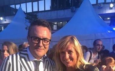Marjeta Kljajić Kirn iz Agencije Nicha in priljubljeni TV-voditelj ter igralec Tarik Filipović.