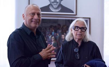 Mirsad Purivatra in Brigitte Lacombe, ena od najboljših portretnih fotografinj današnjega časa.