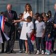 Melania Trump odprla prenovljeni Washingtonov spomenik v ameriški prestolnici