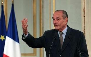 Poslovil se je nekdanji francoski predsednik Jacques Chirac