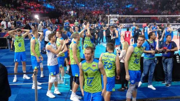 Srbija v finalu EP boljša od Slovenije (foto: STA)