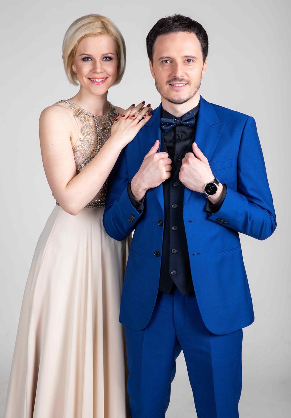 Po dolgi pavzi se na televizijo vračata Darja Gajšek in Blaž Švab (foto: Adrian Pregelj)