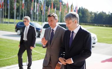 Pobudnik projekta Bodi dober bodi kul Marijan Musek in Borut Pahor.