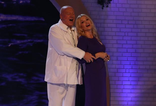 Helena Blagne in Nace Junkar 30 let nazaj in danes, ko sta znova skupaj (foto: Planet TV)