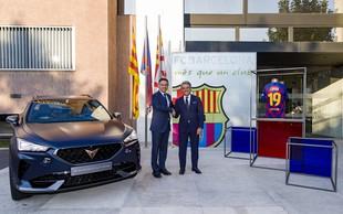Lionel Messi in avtomobilska znamka Cupra z roko v roki
