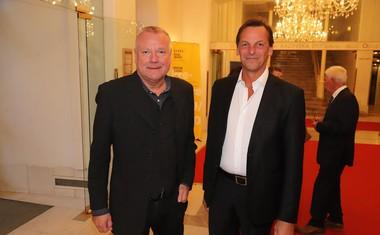 Prišli so tudi umetniški kolegi iz Ljubljane, Staš Ravter. v.d. ravnatelja SNG Opera in balet Ljubljana, Tomež Rode, predsednik DBUD.