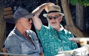 Bruce Springsteen in Steven Spielberg skupaj po Sardiniji