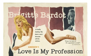 Plakat za film Love is my profession, v katerem je igral tudi legendarni Jean Gabin.