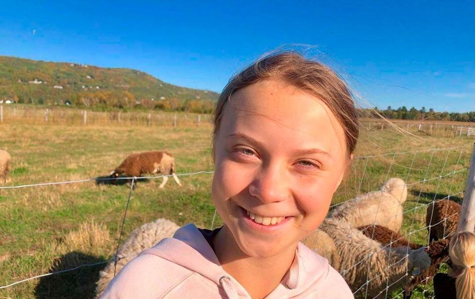 Greta Thunberg čez Atlantik s pomočjo avstralskih vplivnežev (foto: Profimedia)
