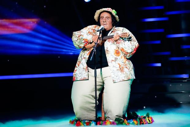 Alex Volasko po šovu pokazal, kako izgleda 'njegovih' 230 kilogramov (foto: Miro Majcen / POP TV)