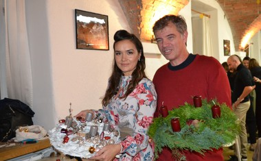 Alenka Košir s prijateljem
