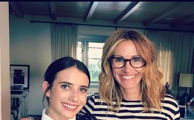 Ericova hčerka igralka Emma Roberts s teto Julio.