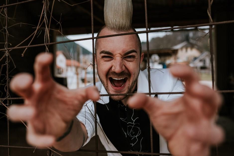 Kratek oddih vedno prav pride, pravi poskočni muzikant Dejan Krajnc (foto: Rok Deželak)