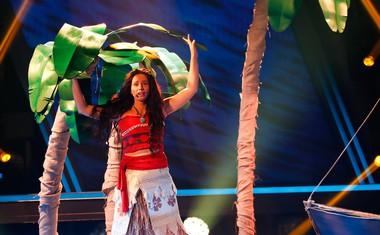 Petra Zore je imitirala risano junakinjo Moano.