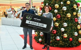 Citypark prispeval Slovenskemu društvuza zaščito voda 4.000,00 evrov