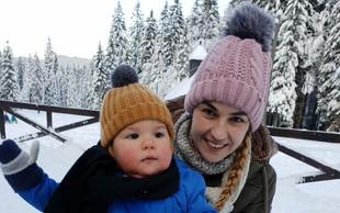 Alenka Medič upa, da bosta s sinčkom to zimo uživala na snegu