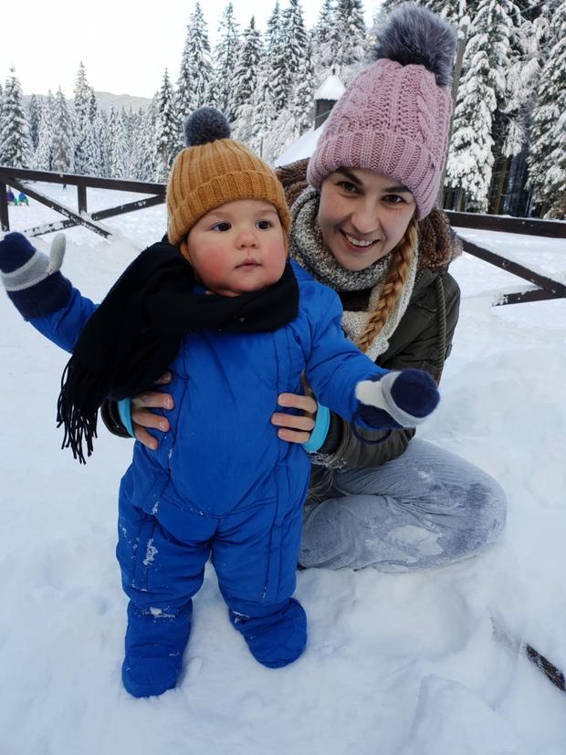 Alenka Medič upa, da bosta s sinčkom to zimo uživala na snegu (foto: Osebni album)