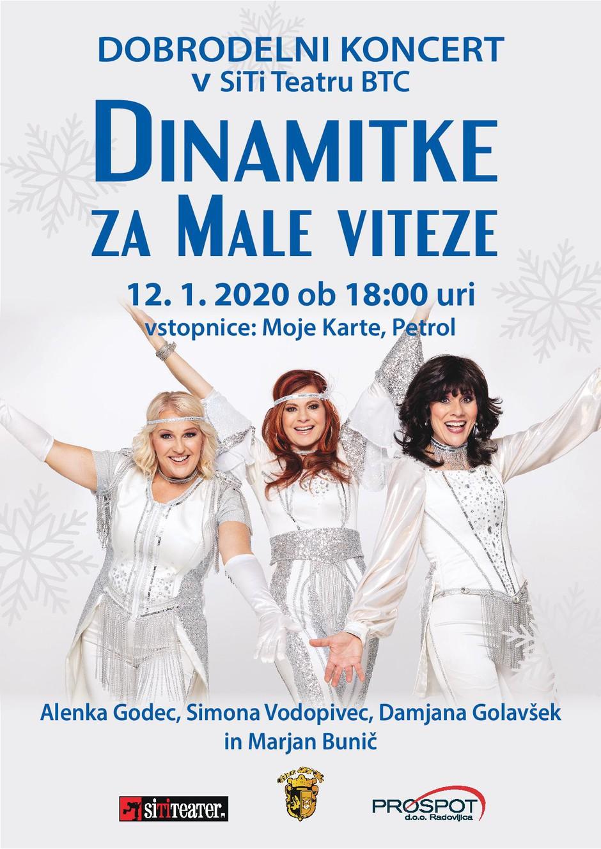 Tri DINAMITKE, Simona Vodopivec, Alenka Godec in Damjana Golavšek, na dobrodelnem koncertu ustanove Mali vitez (foto: promocijski materiali)