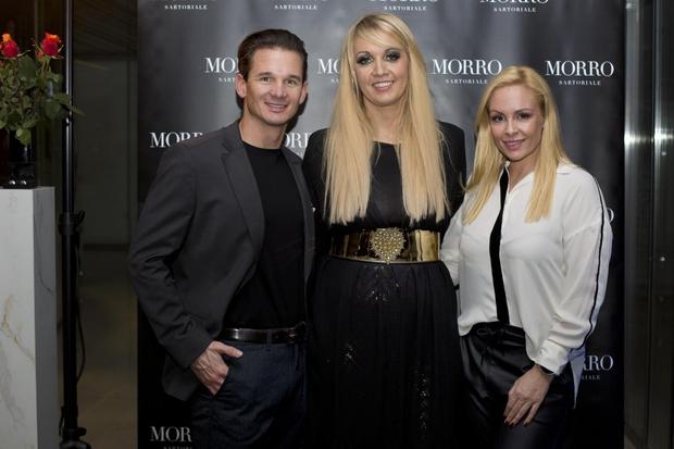 Petra Morec, vodja blagovne znamke Morro Sartoriale, Špela Grošelj in njen izbranec Gregor Kirsch. (foto: Foto: Nina Znidersic)