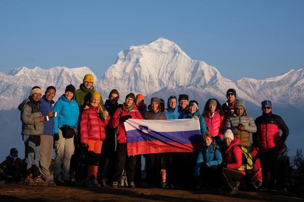 Z Andrejem in Marijo Štremfelj na nepozabnem trekingu v Nepalu. (foto: Foto: Osebni Arhiv)