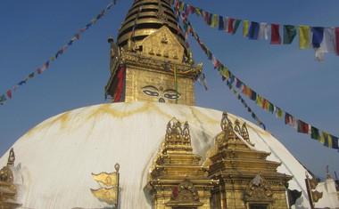 Opičji tempelj, od koder se odpre pogled na celoten Katmandu.