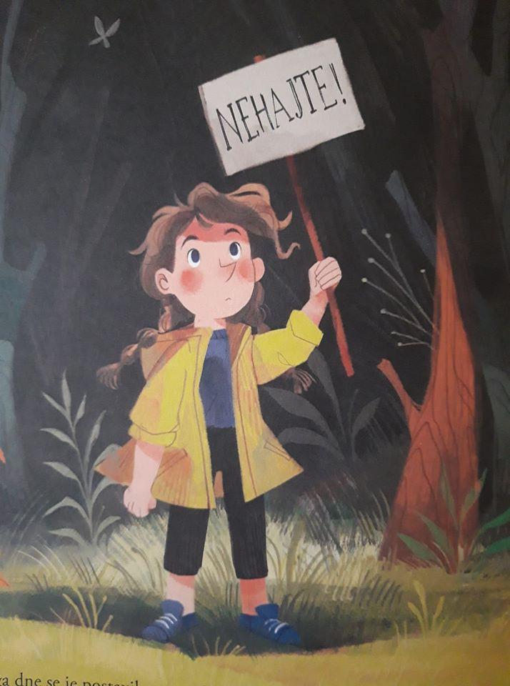 Slikanica Greta in velikani, ki jo je navdihnilo gibanje za lepši svet Grete Thunberg (foto: emka.si, mladinska knjiga)