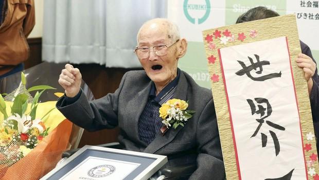 Najstarejši moški na svetu je 112-letni Japonec Chitestu Watanabe (foto: Profimedia)