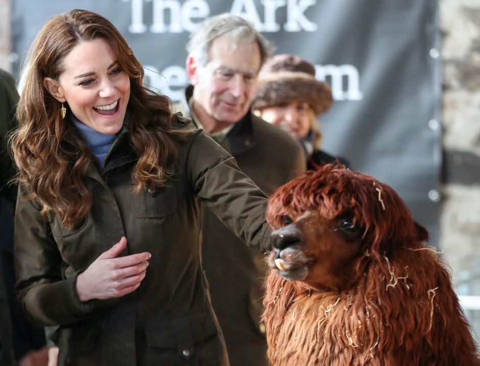 Kate Middleton nepričakovano obiskala lokalno kmetijo in oblekla takšno modno kombinacijo (foto: Profimedia)