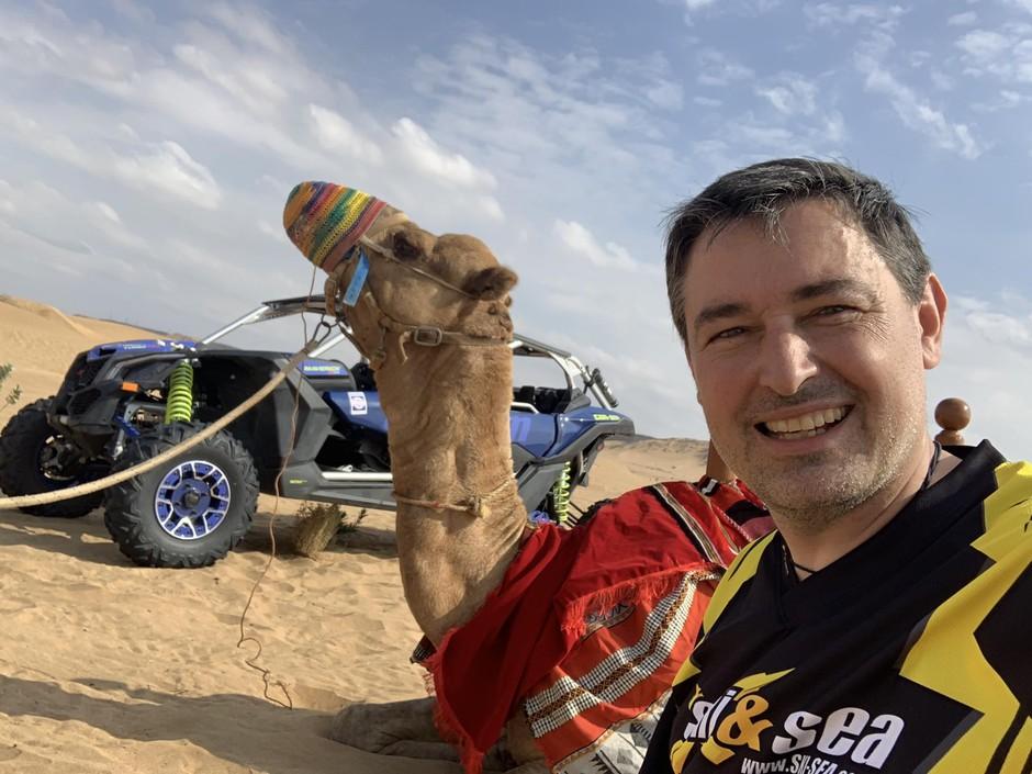 David Stropnik v arabski puščavi. (foto: Osebni Arhiv)