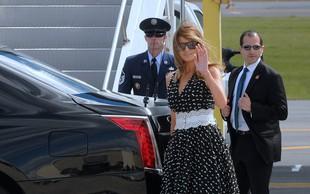 Melania Trump v nadvse ljubki obleki pritegnila veliko pozornosti
