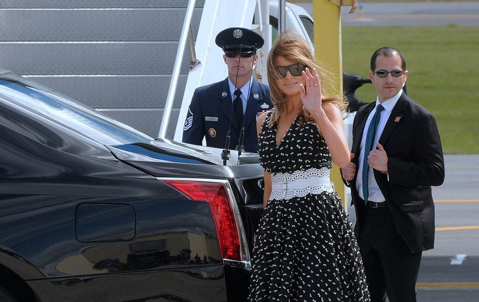 Melania Trump v nadvse ljubki obleki pritegnila veliko pozornosti (foto: Profimedia)