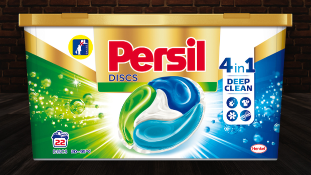 PRODUKT LETA 2020: pralne kapsule Persil Discs Regular Box 22 pranj 275g