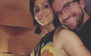 Prvorojenec Andreja in Melinde Škufca upihnil prvo svečko