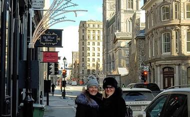 Tanja Zajc Zupan in Hermina Matjašič v Montrealu.