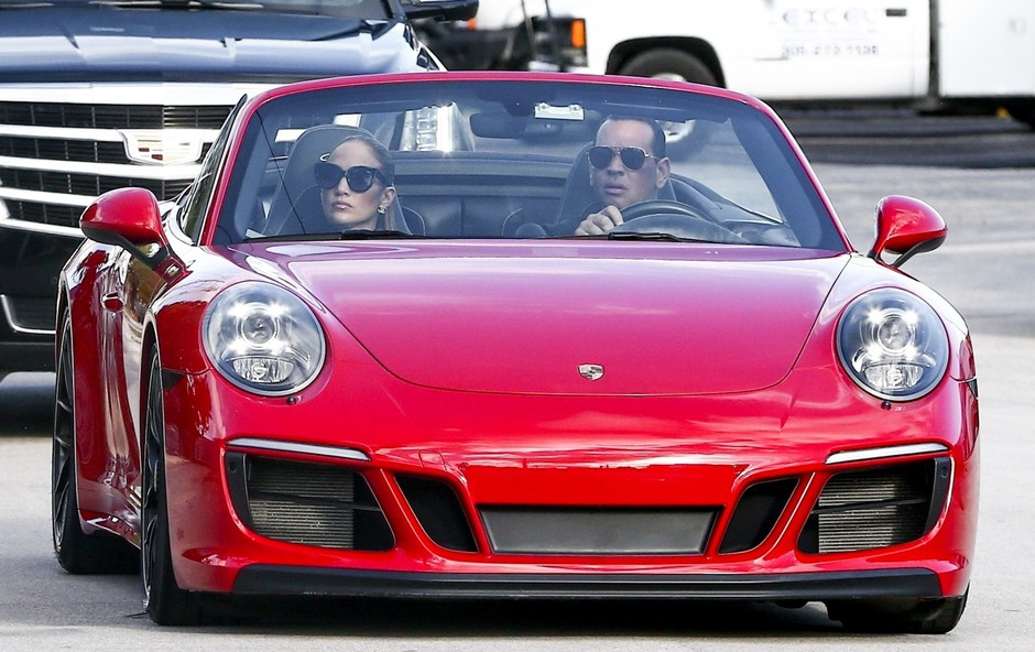 Jennifer Lopez in Alex Rodriguez sta se na fitnes pripeljala v slogu (foto: Profimedia)