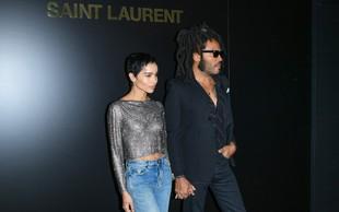 Lenny in Zoe Kravitz, oče in hči, na modni reviji: Vse oči so bile uprte vanju!