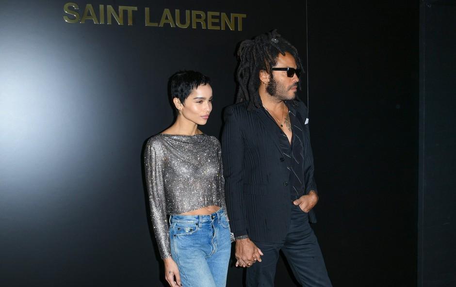 Lenny in Zoe Kravitz, oče in hči, na modni reviji: Vse oči so bile uprte vanju! (foto: Profimedia)