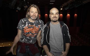 Miha Guštin - Gušti, Jure Karas, režiser in scenarist šova PZVP pa tudi eden najbolj zaposlenih gledaliških avtorjev ta hip.