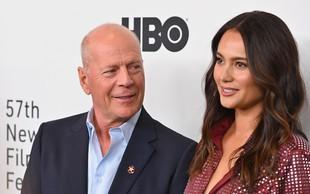 Bruce Willis zaradi karantene z Demi zamudil rojstna dneva hčera