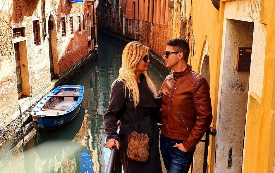 Damjan Murko v Benetkah, nevedoč kaj se dogaja v Italiji? (foto: Osebni album)