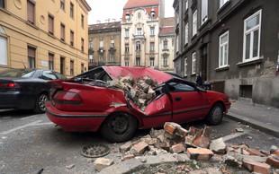 Poglejte si posnetek nadzorne kamere, ki je ujela potres v Zagrebu
