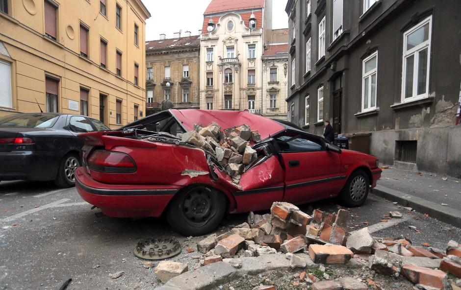 Poglejte si posnetek nadzorne kamere, ki je ujela potres v Zagrebu (foto: Profimedia)