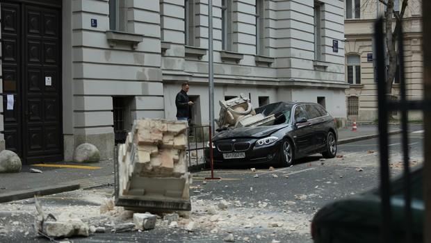 Tako so videti ulice Zagreba po včerajšnjem močnem potresu (foto: Profimedia)