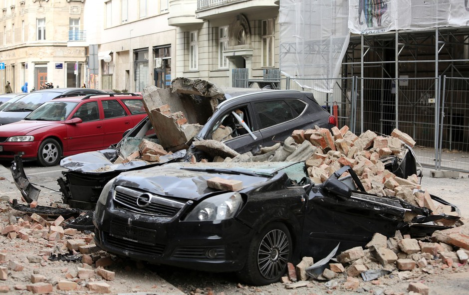 V Zagrebu so se tla znova močneje stresla (foto: Profimedia)