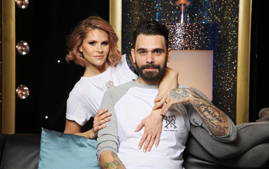 V šovu Gostilna išče šefa sta se Teja in Jani zaljubila in zdaj se vračata v plesni šov kot prvi poročeni par. (foto: Foto: Aleksandra Saša Prelesnik)