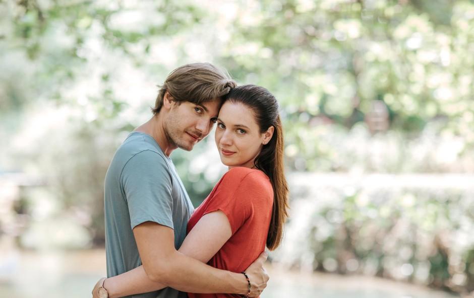 Maša Grošelj (Monika) in Robert Korošec (Kristjan): ''Vipava naju je očarala'' (foto: Foto: Ana Gregorič)