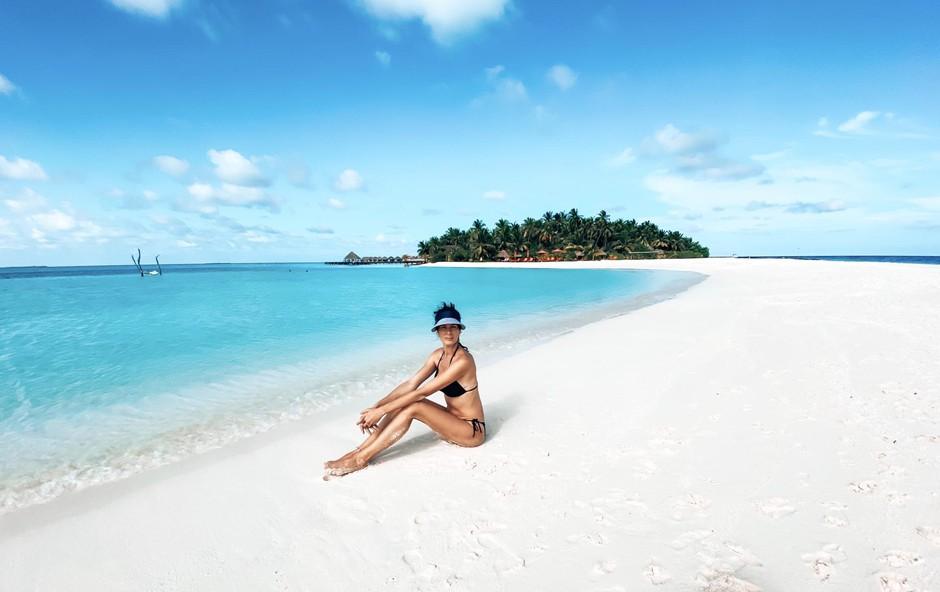 Rajske plaže Maldivov, kjer so počitnikovali pred odhodom na Havaje. (foto: Foto: Osebni Arhiv)