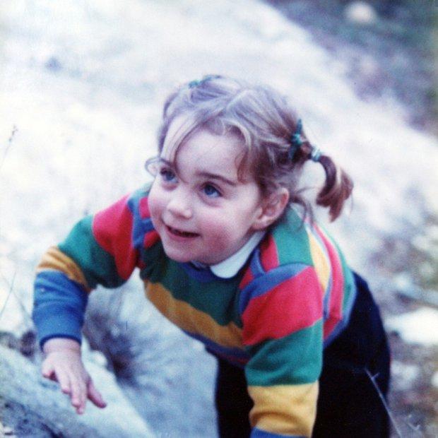 Mala Kate, ko je bila stara tri leta.